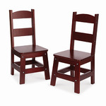 Wooden Chair Pair Espresso - Ages 3-8 Years Product Image
