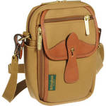 Stowaway Airline Shoulder Bag (Khaki/Tan Leather) Product Image