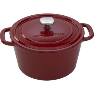 Enameled 6 Qt. Cast Iron Dutch Oven - Red Product Image