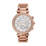 Michael Kors Women's Parker Chronograph Gold-Tone Watch Product Image