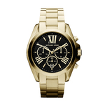 Unisex Bradshaw Gold-Tone Watch Black Dial Product Image