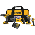 20V MAX 4-Tool Combo Kit - Drill/Driver Impact Recip Saw Worklight Product Image