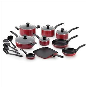 Initiatives Non-Stick 18-Piece Cookware Set - Red Product Image