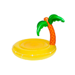Luxe Twin Round Inflatable Pool Float Tropical Island Product Image