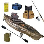 Predator PDL Fishing/Hunting Pedal-Driven Kayak & Accessories Package - Green Camo Product Image
