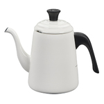 Enamel-on-Steel Pour Over Kettle White Product Image