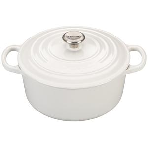 3.5qt Signature Cast Iron Round Dutch Oven White Product Image