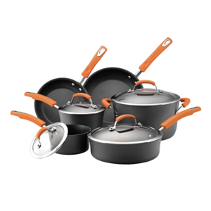 Rachael Ray 10-Piece Hard Anodized Cookware Set Product Image