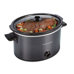 10qt Extra Large Capacity Slow Cooker Black Product Image