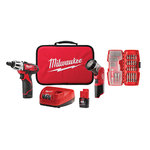 M12 2-Tool Combo Kit w/ 42-Bit Set - Screwdriver & LED Worklight Product Image
