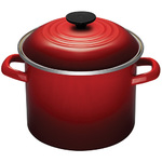 6qt Enamel on Steel Covered Stockpot Cerise Product Image