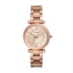 Ladies Carlie Rose Gold-Tone Crystal Bracelet Watch Rose Gold Dial Product Image