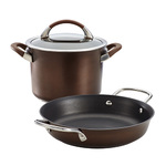 Symmetry 3pc Nonstick Cookware Set Chocolate Product Image
