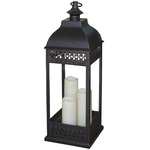 San Nicola Triple LED Candle Lantern Bronze Product Image