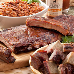 Three Meat Party Sampler Dinner KC BBQ Product Image