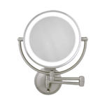Zadro Cordless Dual LED Lighted Round Wall Mount Mirror 1X/10X Product Image
