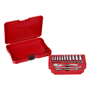 "1/4"" Drive 26pc Ratchet & Socket Set - SAE Product Image"