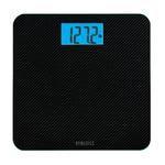 Carbon Fiber Glass Digital Bathroom Scale Black Product Image