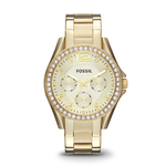 Ladies Riley Gold-Tone Multifunction Watch Champagne Dial Product Image