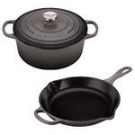 3pc Signature Cast Iron Cookware Set Oyster Product Image