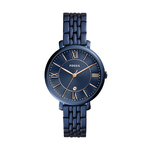 Ladies Jacqueline Navy Stainless Steel Watch Navy Dial Product Image
