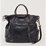 Sheila Convertible Leather Tote Black Product Image