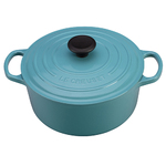 5.5qt Signature Cast Iron Round Dutch Oven Carribean Product Image