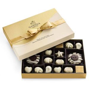 GODIVA 22 Piece White Chocolate Assortment Gift Box Product Image