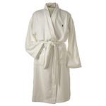 White Cotton Robe Size L/XL Product Image