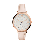 Ladies Jacqueline Blush Leather Strap Watch White Dial Product Image
