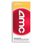 AMC Yellow Ticket - 2 NOT VALID IN: California, New York and New Jersey Product Image