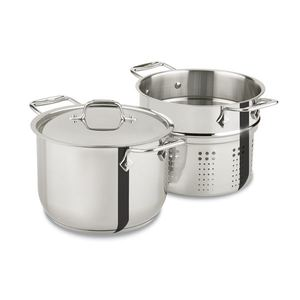 Specialty Stainless Steel 6 Qt. Pasta Pot with Lid Product Image