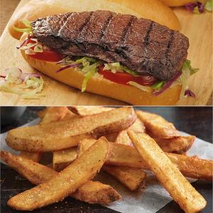 Sirloin Sandwich Steaks & Fries Combo Product Image