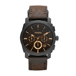 Mens Machine Mid-Sized Brown Leather Strap Watch Product Image