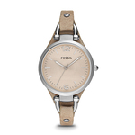 Ladies Georgia Bone Leather Strap Watch Beige Dial Product Image