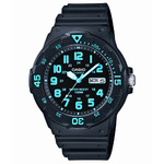 Classic Diver Analog Resin Watch Black Product Image