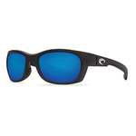 Trevally Matte Black Sunglasses w/ Blue Mirror 580P Lens Product Image