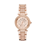 Mini Parker Rose Gold-Tone Watch w/ Blush Acetate Product Image
