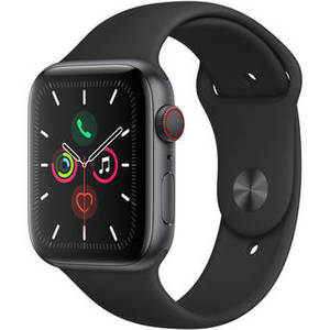 Watch Series 5 (GPS + Cell, 44mm, Space Gray Aluminum, Black Sport Band) Product Image