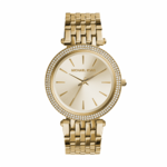 Michael Kors Women's Darci Glitz Gold-Tone Watch Product Image