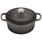 2qt Signature Cast Iron Round Dutch Oven Oyster Product Image