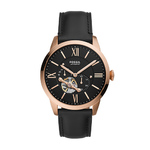 Mens Townsman Automatic Black Leather Strap Black Dial Product Image