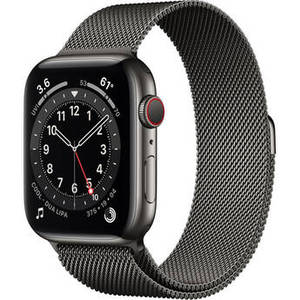 Watch Series 6 (GPS + Cellular, 44mm, Graphite Stainless Steel, Graphite Milanese Loop Band) Product Image