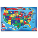 USA Map Floor Puzzle Ages 6+ Years Product Image