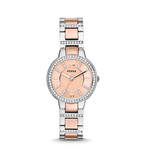 Ladies Virginia Crystal Two-Tone Watch Rose Gold Dial Product Image