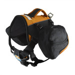 Baxter Backpack for Dogs 30-85lbs Black/Orange Product Image