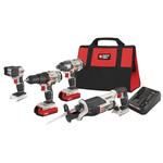 20V MAX Cordless 4 Tool Combo - Drill/Recip/Impact/Light Product Image