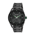 Mens Eco-Drive CTO Black Ion-Plated Watch Black Dial Product Image