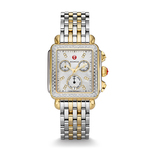 Ladies Signature Deco Silver & Gold-Tone Diamond Watch Product Image