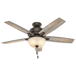 """Contemporary Donegan 52"""" Ceiling Fan Onyx Bengal Finish Product Image"""